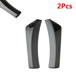 Abs Glossy Black Rear Bumper Lip Diffuser Splitter Canard Protector Fit For Car