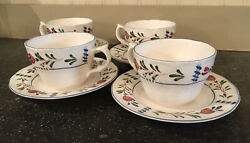 Avondale By Nikko 4 Cup 4 Saucer Set Dishware China Provincial Designs Floral