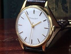 Vintage Schaffhausen 18k Solid Gold 1960s Mens Watch Keeps Time So Luxurious