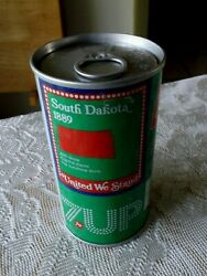 South Dakota 7-up Soda Error Can Pull Tabs Both Ends Never Opened Or Filled