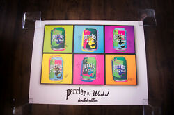 Perrier Warhol Limited Edition B 24 X 32 Original Vintage Advertising Poster