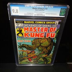 Master Of Kung Fu 19 Shang-chi Cgc 9.8 Marvel 1974 Ow-w Pages Nm/mt