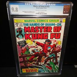 Master Of Kung Fu 23 Shang-chi Cgc 9.8 Marvel 1974 Ow-w Pages Nm/mt