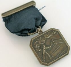 1926 Sterling Silver Palm Beach Times Tennis Tournament Medal Jerome Lang