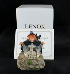 Lenox Halloween Magical Spell Snowglobe Witch Mint In Box 4 Tall