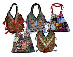 25 Vintage Banjara And Embroidered Sequin Beads Bags Usa Gypsy Purse Wholesale Lot