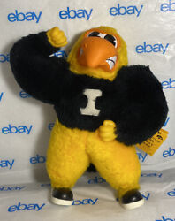 Rare 1983 University Of Iowa Ertl Plush Rubber Face 285 Herky Hawk With Tags