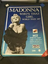 Vintage Huge / Giant 1987 Madonna Whoand039s That Girl French Tour Poster Promo