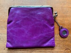 Haute HOBO Clutch Purse Purple With Small Attached Mirror 💕 $25.00