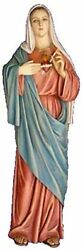 Immaculate Heart Of Mary 35 Inch Large Colored Wall Plaque