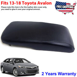 Fits 2013-2018 Toyota Avalon Leather Center Console Lid Armrest Cover Black