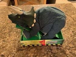 Jurassic Park Lost World Triceratops Ramming Action Plush - 1997 Kenner - New