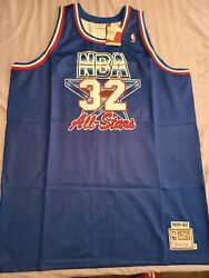 Mitchell Ness Mandn Magic Johnson Authentic 1992 All-star Lakers Jersey 56 Nwt 3xl
