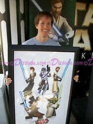 3 Clone Wars Actors Autographs 2009 Framed Poster Star Wars Weekends Exclusive