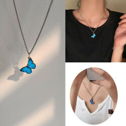 Fashion Butterfly Pendant Necklace Clavicle Chain Choker Personalized Women Gift $0.99