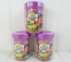 Ryans World Series 3 Mystery Goo Slime Purple Container Lot Of 3 New