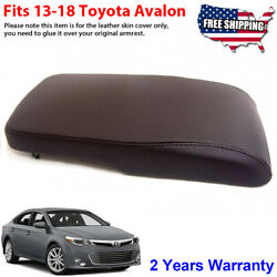 Fits 2013-2018 Toyota Avalon Leather Center Console Lid Armrest Cover Brown