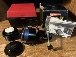Vintage Abu Garcia Mitchell 300 Open Face Spinning Reel France Right Handed Box