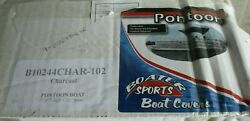 Pontoon Boat Cover 102 Beam X 17ft-20ft Boater Sports Pontoon Charcoal 1-b10244