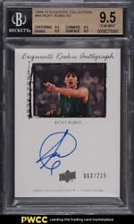 2009 Exquisite Collection Ricky Rubio Rookie Rc Auto /225 Bgs 9.5 Gem Mt