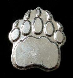 Yeagers 5 Oz 999 Fine Silver Animal Paw Print Poured Bar