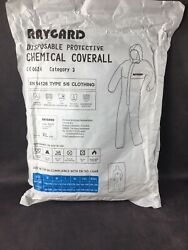 Raygard 30302 Disposable Protective Chemical Coverall Category 3 Size Xl