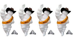 Michelin 14 Inch Plastic Doll X 4 For Decoration Truck With Hat And Night Light