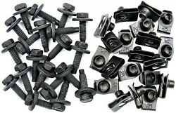 Gm Body Bolts And U-nut Clips- 5/16-18 X 1-3/16- 1/2 Hex- 40 Pcs 20ea- 375f
