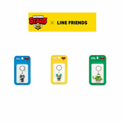 Official Supercell Brawl Stars X Line Friends Figurine Keyring Crow Spike Leon