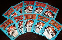 Lot Of 10 Vintage 1960and039s Esso Gas Station Tigerino Game Card Tickets 1966 Prizes