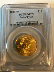 Perfect Ms 70 Pcgs Julia Tyler First Spouse 10 Gold Present Value 2300