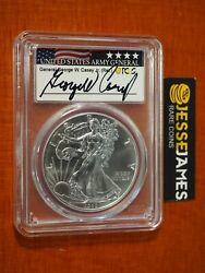 2020 P Silver Eagle Pcgs Ms69 General George W. Casey Signed Emergency Issue