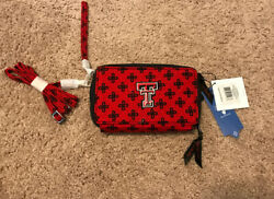 NWT Vera Bradley All In One Crossbody Wallet Texas Tech New Collegiate New Red $44.99