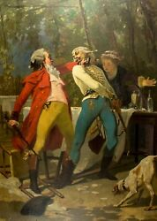 Pierre Eugene Giraud French,1806-1881 Oil Painting Antique