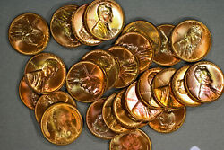 1957-d Lincoln Wheat Cent Partial Roll 26 Coins - Gem Unc - From Original Roll