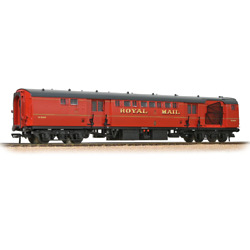 Bachmann 39-421b Br Mk1 Pos Post Office Sorting Van With Nets Royal Mail Red