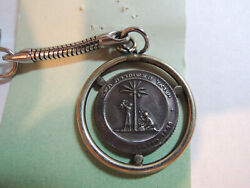 Israel Liberatin Silver State 19mm 3g Silver Medal W/key Chain