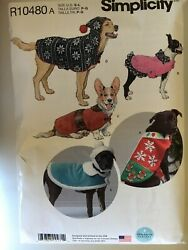 Simplicity R10480 Dog Coats And Hats In Three Sizes