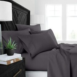 Heavy 1500 Thread Count Best 100 Cotton 4-pcs Sheet Set Fits Mattress 15-18and039and039 D
