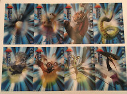 2008 Kung Fu Panda Complete Masters Of Kung Fu Lenticular Set Of 8