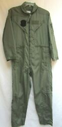 Flight Suit..40r..flyers..military Coveralls..fire-resistant..summer..menand039s Sage