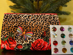 2* ESTEE LAUDER Leopard Print Makeup Cosmetic Bag Travel ZIP $9.50