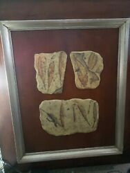 Extra Large Horchow Wood Wall Decor Art Fosil Fossil Tiles Neiman Marcus Unique