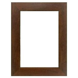 Us Art Frames 1 Flat Country Walnut Brown Mdf Picture Poster Frame Custom-a