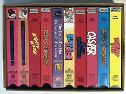10 Vhs - More Cartoons Out The Wazoo Tons Of Famous Cartoons - Promo Screeners