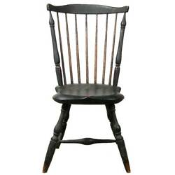 Antique American New England Painted Fan-back Windsor Chair C. 1790