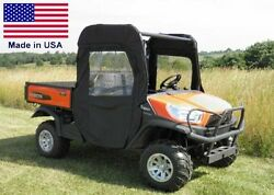 Doors And Rear Window For Kubota Rtv X1120d / X900 - Soft - Puncture Proof