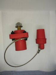 Crouse Hinds E1016 Male Red Cam-lok With Cover And Mounting Hardware