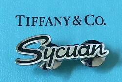 And Co. Sycuan Casino Sterling Silver .925 Pin Back Tie Tack