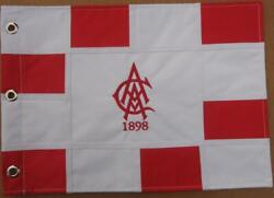 Atlanta Athletic Club Red Embroidered Golf Pin Flag Pga + Us Open Course